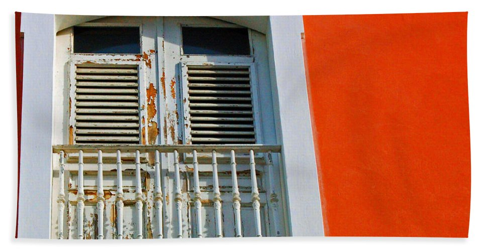 Shutters Bath Sheet featuring the photograph Peel An Orange by Debbi Granruth