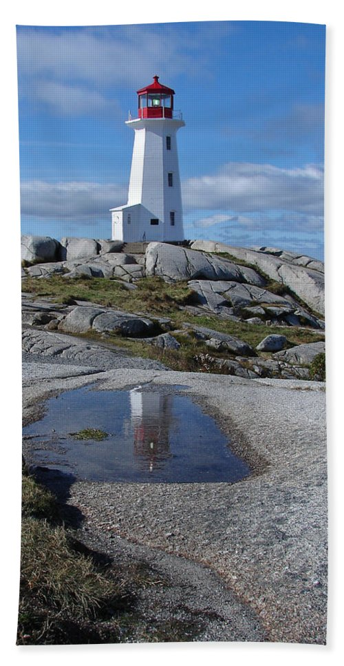 Seascape Hand Towel featuring the photograph Peggys Cove Nova Scotia Canada by Heather Coen