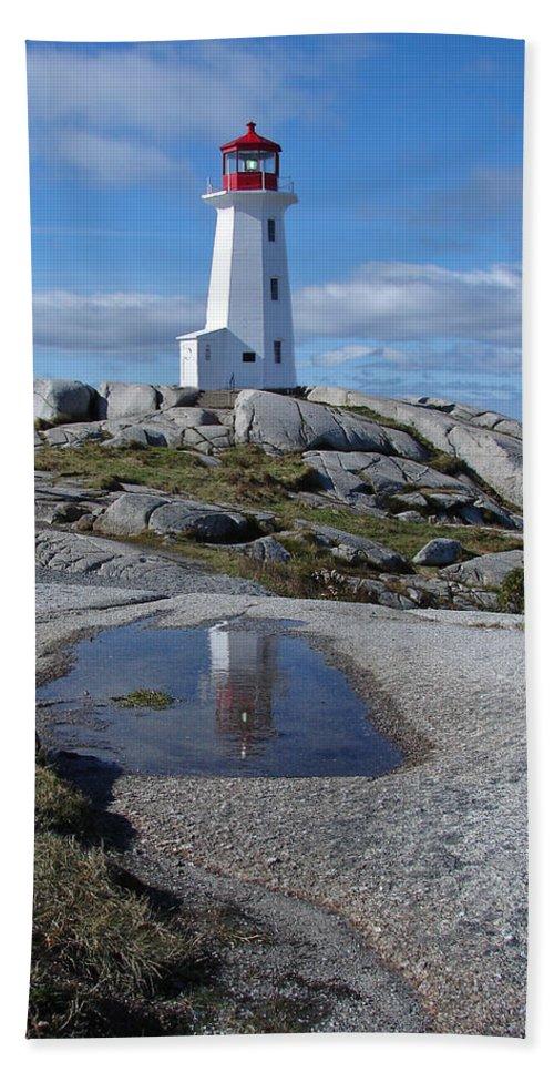 Seascape Bath Sheet featuring the photograph Peggys Cove Nova Scotia Canada by Heather Coen