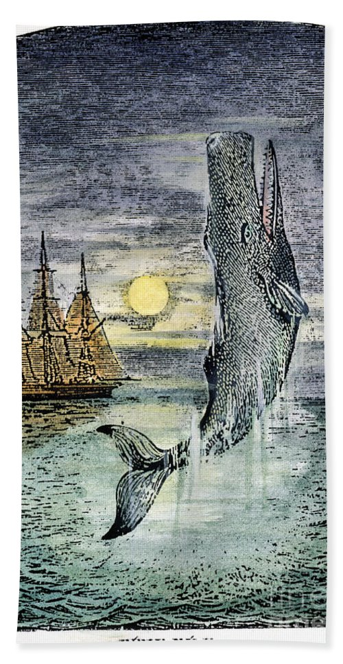 19th Century Bath Towel featuring the photograph Pehe Nu-e: Moby Dick by Granger