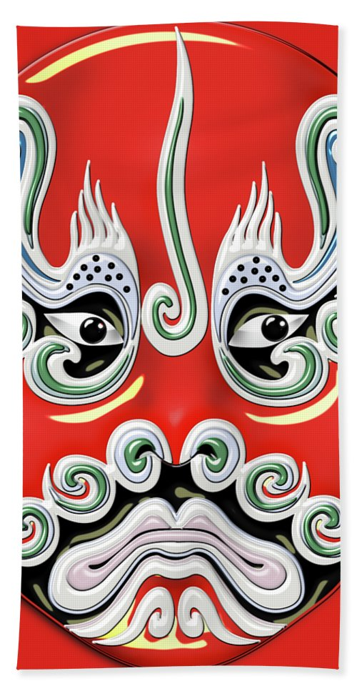 Peking Opera Face-paint Masks - Chen Qi Hand Towel