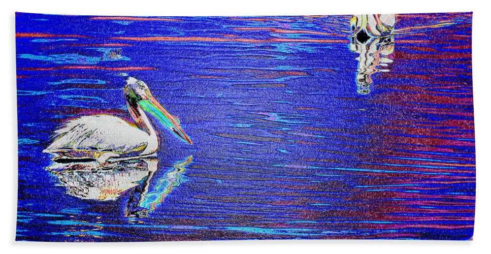 Pelican Hand Towel featuring the photograph Pelican Mates 2 by Terry Anderson