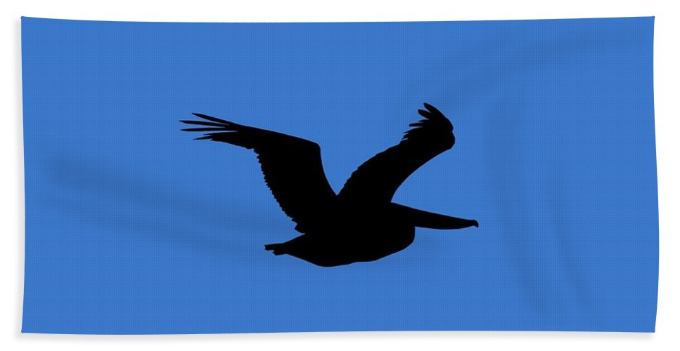 Pelican Hand Towel featuring the photograph Pelican Profile .png by Al Powell Photography USA
