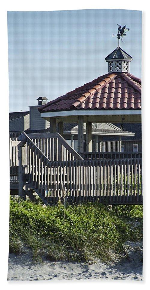 Pelican Hand Towel featuring the photograph Pelican Weathervane Ocean Isle Norht Carolina by Teresa Mucha