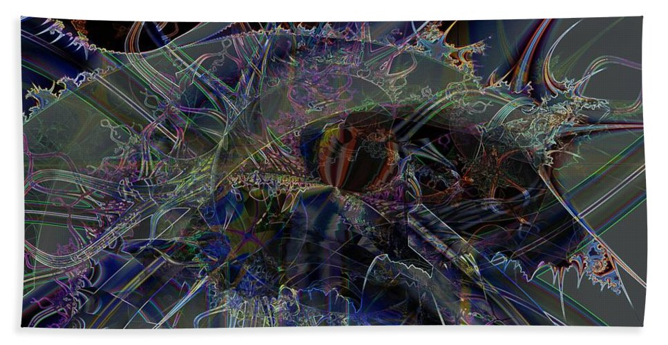 Transparency Bath Sheet featuring the digital art Pellucidity by Ron Bissett