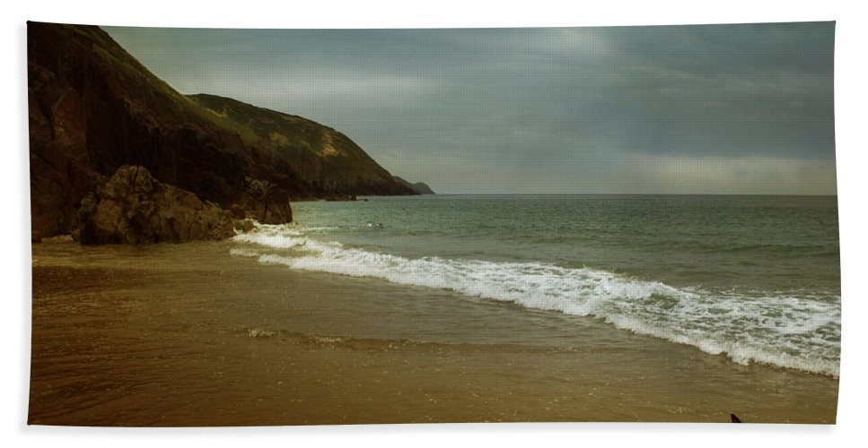 Beach Hand Towel featuring the photograph Pembrokeshire by Angel Ciesniarska