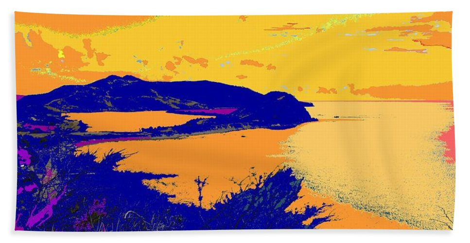 St Kitts Hand Towel featuring the photograph Peninsula Orange by Ian MacDonald