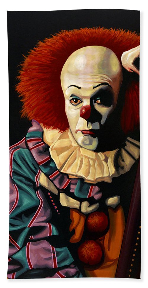 Pennywise Bath Towel featuring the painting Pennywise by Paul Meijering