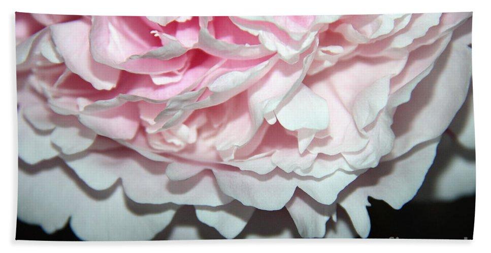 Peony Bath Sheet featuring the photograph Peony Petals by Jolanta Anna Karolska