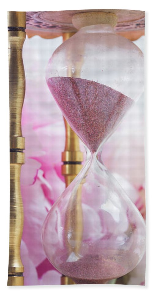 Pink Hand Towel featuring the photograph Peony Time by Anastasy Yarmolovich