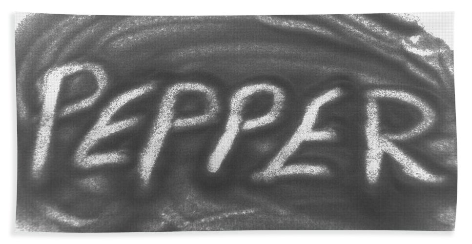 Black And White Hand Towel featuring the photograph Pepper by Rob Hans