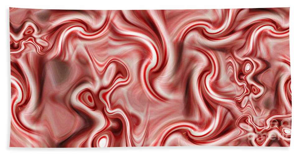 Peppermint Hand Towel featuring the digital art Peppermint 2 by Ron Bissett
