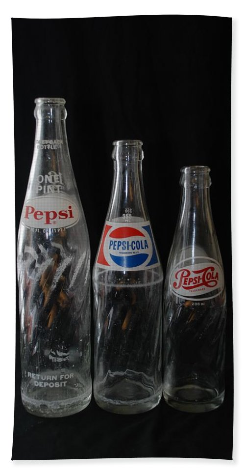 Pepsi Cola Hand Towel featuring the photograph Pepsi Cola Bottles by Rob Hans