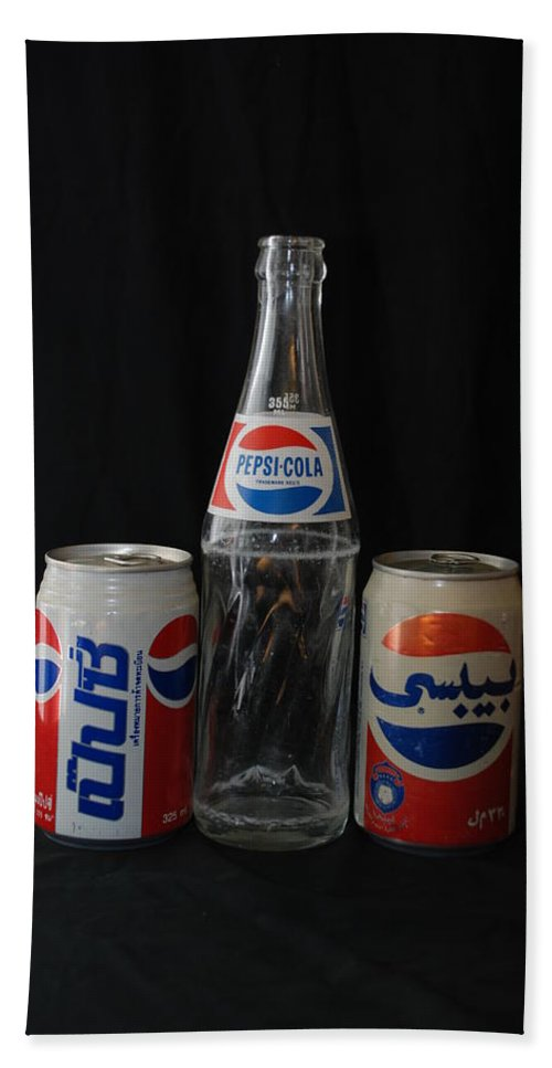 Cola Hand Towel featuring the photograph Pepsi Cola by Rob Hans