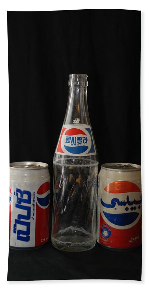 Korean Bath Towel featuring the photograph Pepsi From Around The World by Rob Hans