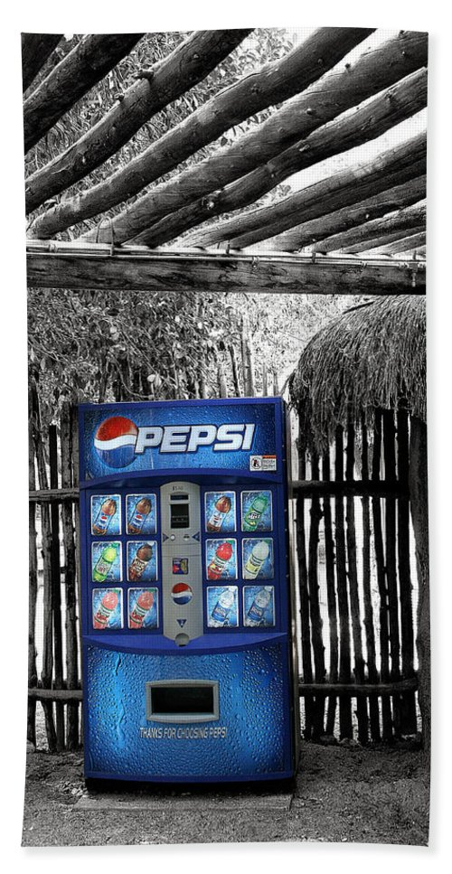 Living Desert Hand Towel featuring the photograph Pepsi Generation Palm Springs by William Dey