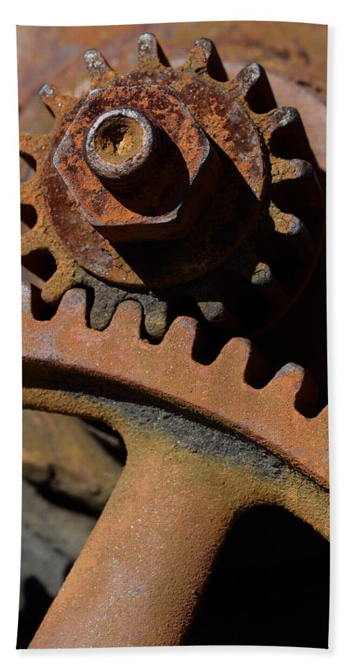 Gears Bath Sheet featuring the photograph Perfect Fit by Karen Harrison
