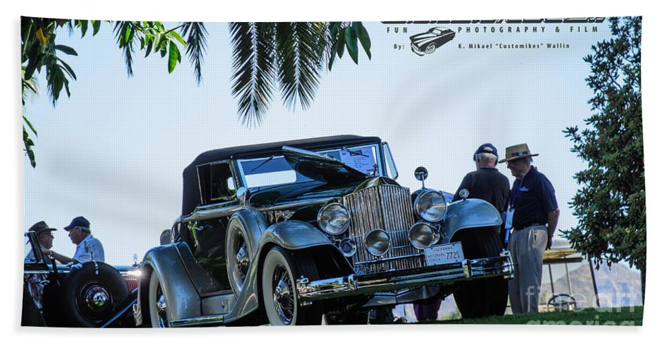 Collector Bath Sheet featuring the photograph Perfect Packard by Customikes Fun Photography and Film Aka K Mikael Wallin