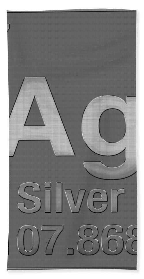 Periodic table of elements silver ag silver on silver hand the elements collection by serge averbukh hand towel featuring the digital art periodic table urtaz Choice Image