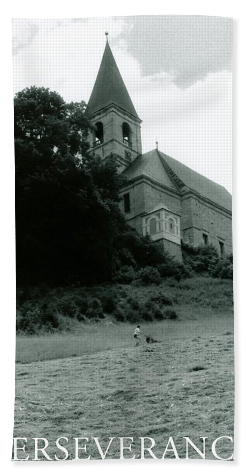 Church Bath Towel featuring the photograph Perseverance by Michelle Calkins