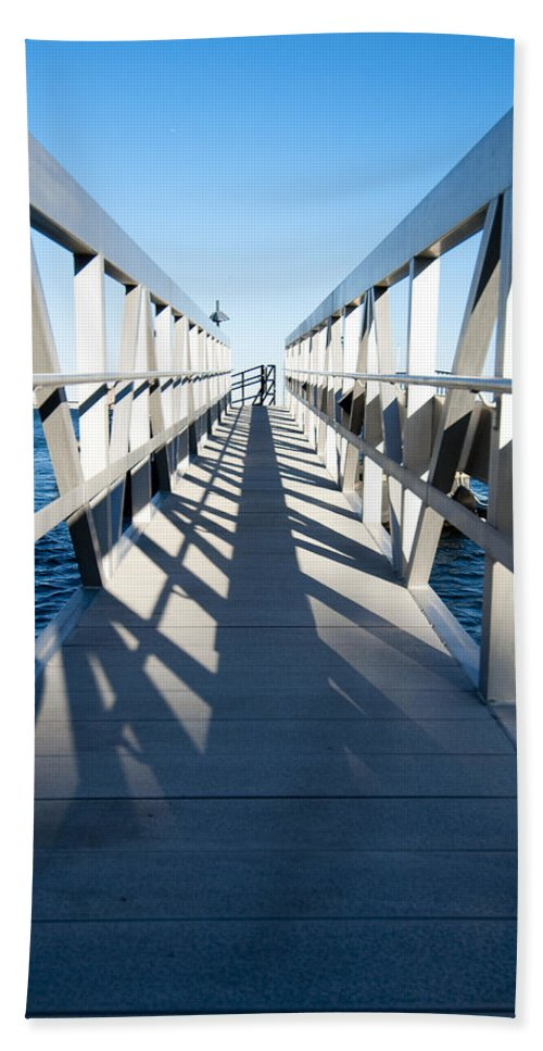 Dock Bath Sheet featuring the photograph Perspective Iv by Greg Fortier