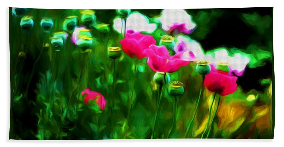 Photography Bath Sheet featuring the mixed media Persuasive Beauties by Debra Lynch