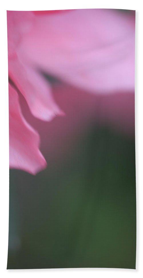 Flower Macro Zen Pink Photography Garden Hand Towel featuring the photograph Petal by Norah Holsten