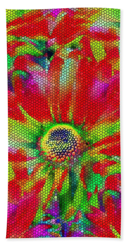 Abstract Bath Sheet featuring the photograph Petal Power by Tim Allen