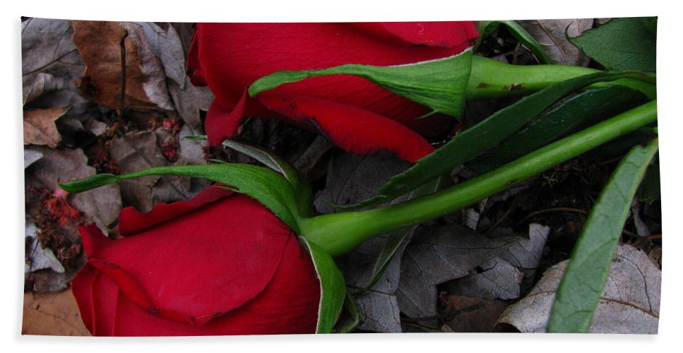 Patzer Bath Sheet featuring the photograph Petals And Leafs by Greg Patzer
