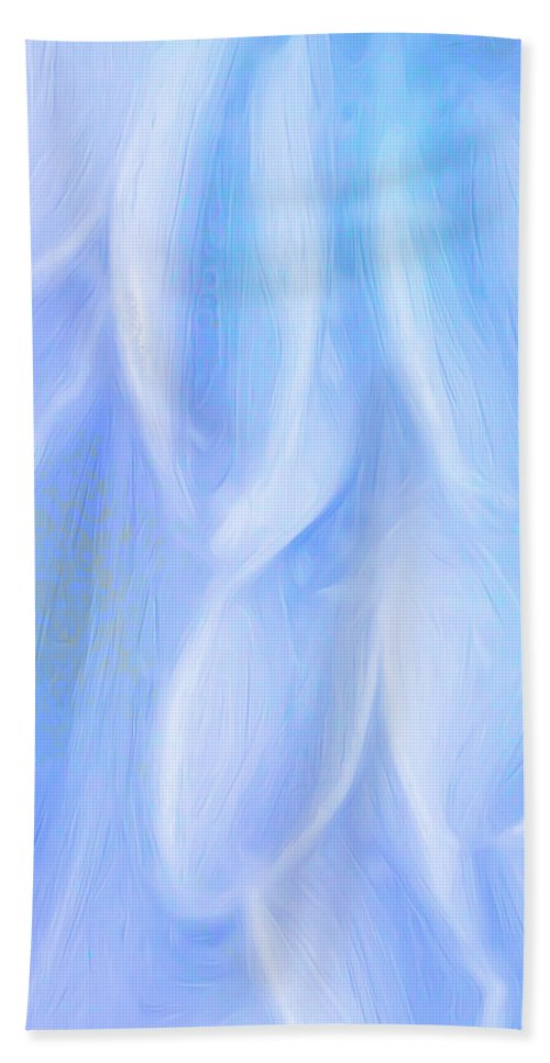 Flowers Hand Towel featuring the digital art Blue Petals by George Robinson