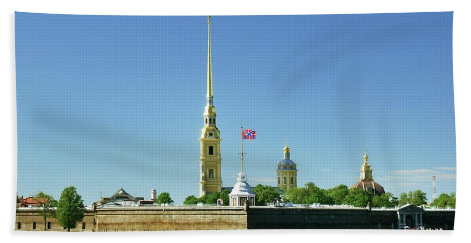 Saint Hand Towel featuring the photograph Peter And Paul Fortress. Saint Petersburg, Russia by David Lyons