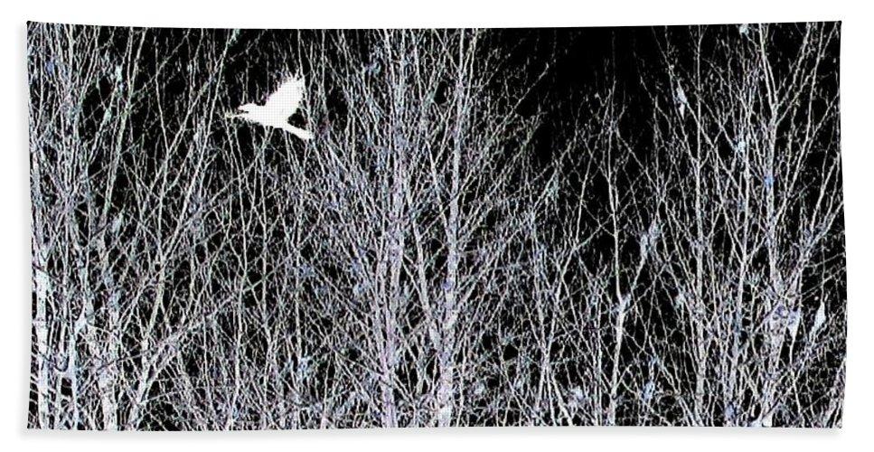 Phantom Birds Bath Sheet featuring the digital art Phantom Birds by Will Borden