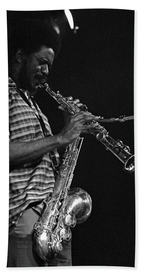 Pharoah Sanders Hand Towel featuring the photograph Pharoah Sanders 4 by Lee Santa