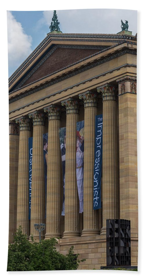 Terry D Photography Hand Towel featuring the photograph Philadelphia Museum Of Art by Terry DeLuco