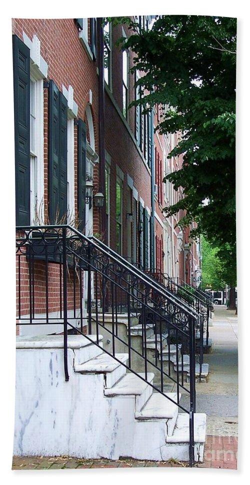 Architecture Bath Sheet featuring the photograph Philadelphia Neighborhood by Debbi Granruth