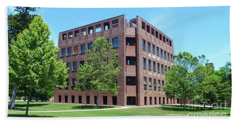 Phillips Exeter Academy Hand Towel featuring the photograph Phillips Exeter Academy Louis Kahn Library by Tom Maxwell