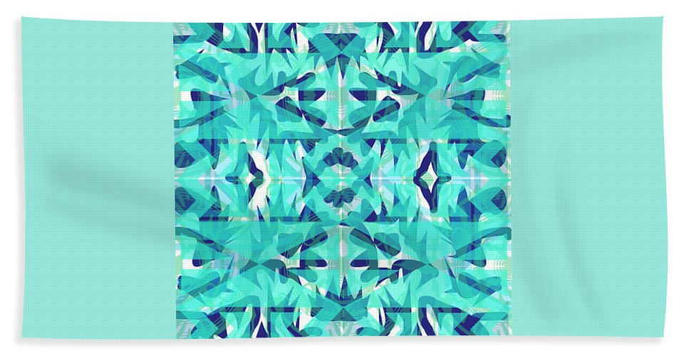 Digital Geometric Abstract Design Pattern Bath Sheet featuring the digital art Pic9_coll1_15022018 by John England