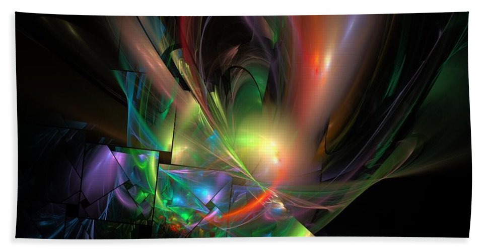 Fantasy Hand Towel featuring the digital art Picassoractal by David Lane