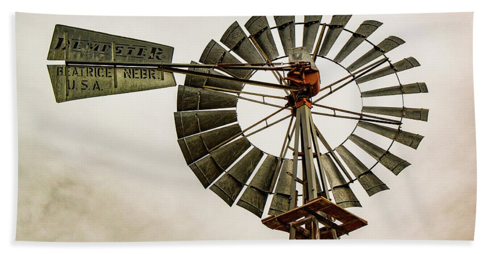 Windmill Hand Towel featuring the photograph Piceance Basin Windmill by Debbie Rudd