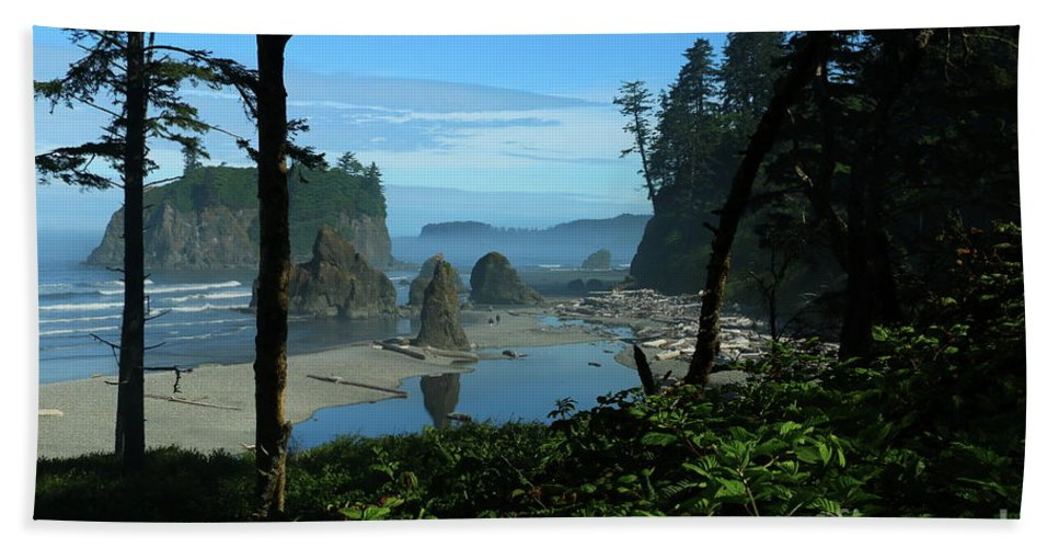 Beach Hand Towel featuring the photograph Picturesque Ruby Beach View by Christiane Schulze Art And Photography