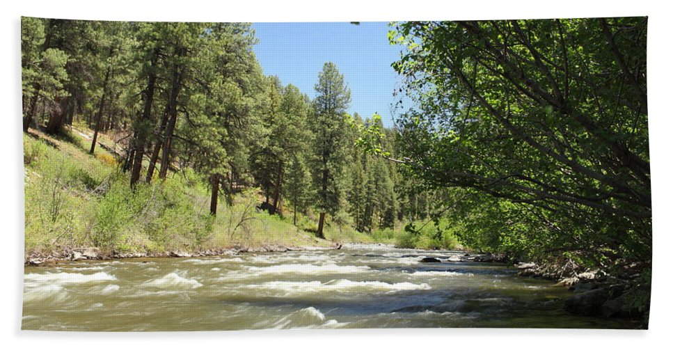 Colorado Bath Sheet featuring the photograph Piedra River by Eric Glaser