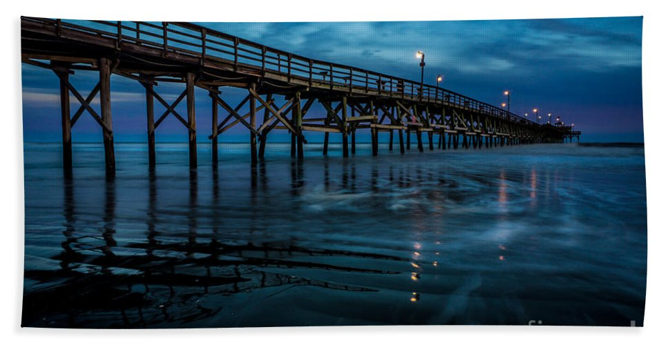 Pier Hand Towel featuring the photograph Pier At Dusk by David Smith