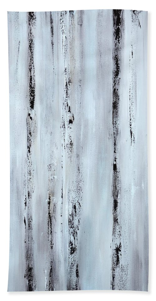 Urban Hand Towel featuring the painting Pier Planks by Tamara Nelson