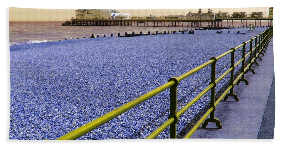 Pier Hand Towel featuring the photograph Pier View England by Heather Lennox