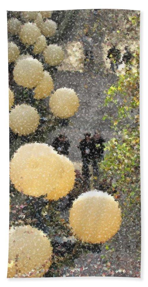 Lights Hand Towel featuring the digital art Pike Hillclimb by Tim Allen
