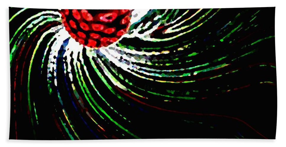 Abstract Bath Towel featuring the digital art Pine Cone Abstract by Will Borden