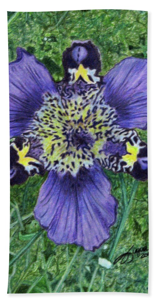 Fuqua - Artwork Bath Sheet featuring the drawing Pinewoods Lily by Beverly Fuqua