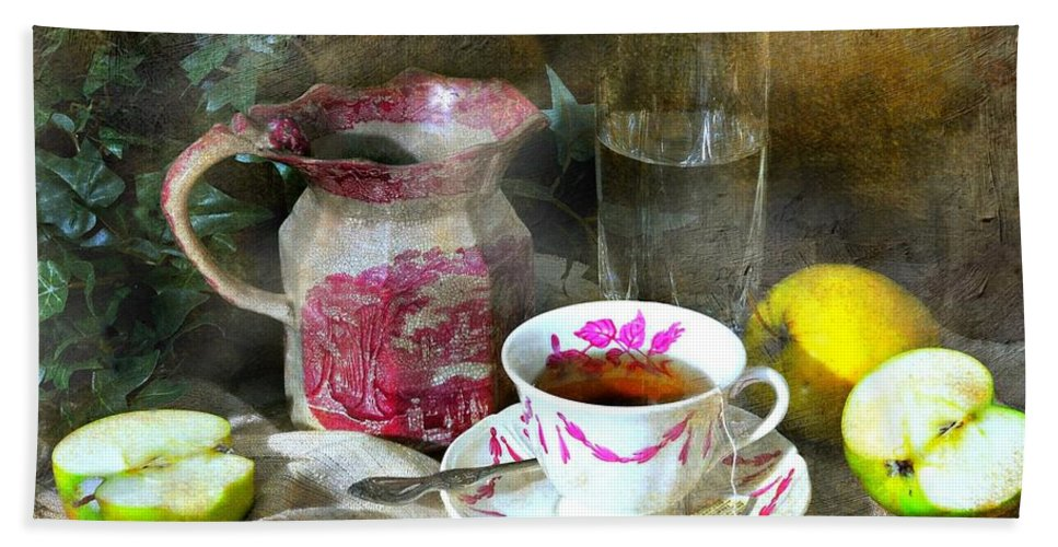 Still Life Hand Towel featuring the photograph Pink For Tea by Diana Angstadt