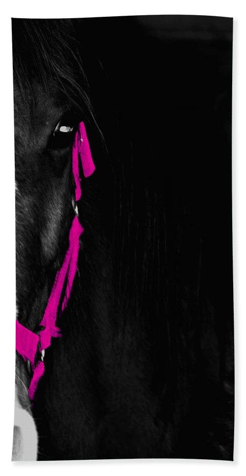 Pink Bath Sheet featuring the photograph Pink Halter by Hannah Breidenbach