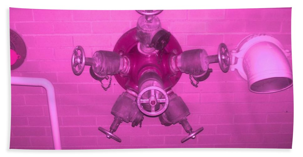 Photograph Bath Towel featuring the photograph Pink Male Pipe by Thomas Valentine